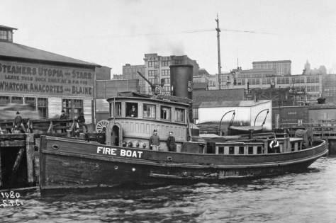 The Snoqualmie fire boat with Pier 3/54