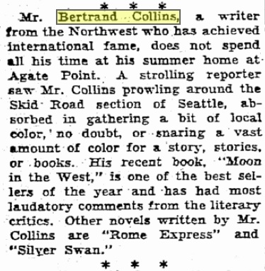 Seattle Times, July 16, 1933