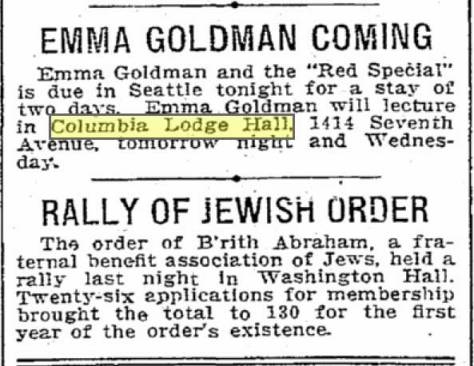 Another Seattle Times clipping.  This from May 23, 1910.