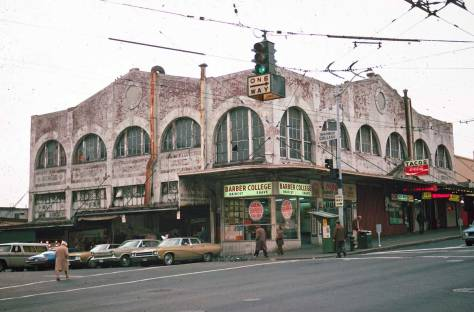 A typically alert Lawton Gowey recorded this portrait of a worn market on Oct. 25, 1974, and so before the restoration.