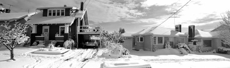 The Dahl home under a snow of 1985.