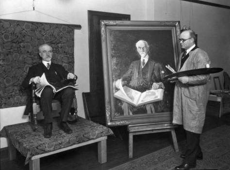 One of many renderings of the handsome history professor, the artist here is (and I am mildly speculating) Herbert P. Muehlenbeck, who was also responsible for painting portraits of the U.W. figureheads.