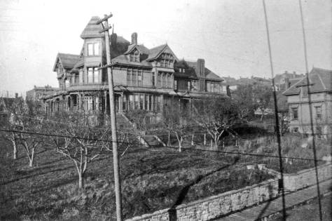 In July, 1886 the Yesler's moved up James Street to their mansion facing Third Avenue, a sided at the corner with Jefferson by an orchard large enough for lots of apple sauce and branches enough for crimes and punishments, although none were used so.  Sara died in 1887 and Henry in 1892.