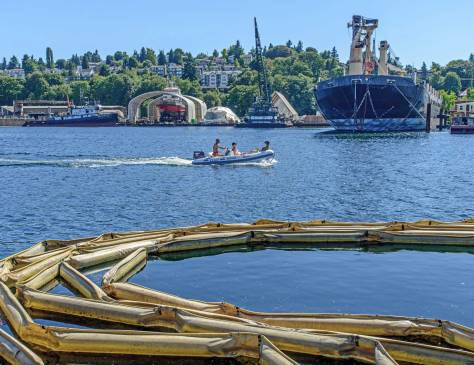 NOW: Beginning in 1903 and continuing even after the 1917 opening of the Lake Washington Ship Canal, both Ross Creek and the Salmon Bay shoreline were extensively reshaped for commerce and recreation.