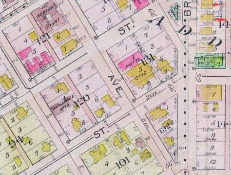Another detail pulled from the 1912 Baist Real Estate Map.