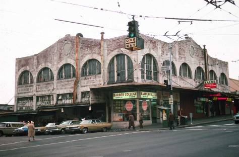 Lawton Cowey's recording of the Corner Market Building on Oct. 25, 1974, and so before its restoration.
