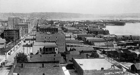 Looking south from the roof (or upper floor) of the Ripley/York hotel.