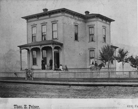 The Ranke home at the northwest corner of Pike and 5th.  A past feature about this Peiser photograph is attached below near the top of the string of the relevant links.