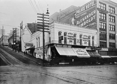 The Star Theatre with the Palace Hotel beside it.
