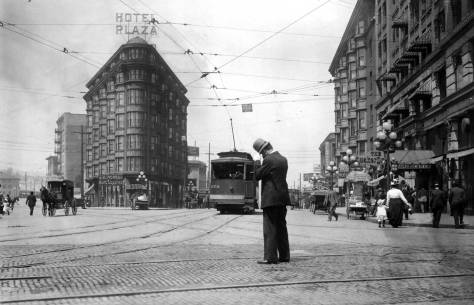 One of the most popular historical photos of Westalke Ave looking north from Pike Street.