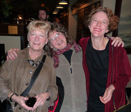 Left-to-right, historylink's Marie McCaffrey, Priscilla Long and Paula Becker.