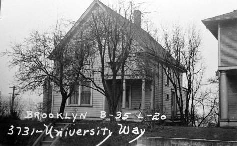 3731 University way in 1937, and below also 3721 but in 1955 after eighteen years of wear.