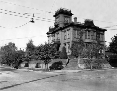 At the top of the hill, Granville O. Haller's tower extended the superlatives of his big home at the northwest corner of James and Minor.