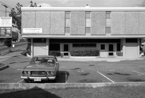 The clinic that replaced the home.  I took this sometime in the 1980s.  Perhaps the car is a clue.