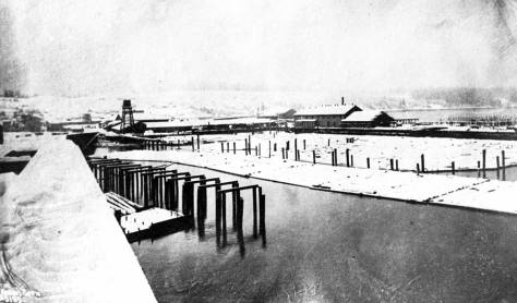 Stetson and Post Mill photographed from the King Street Coal Wharf.