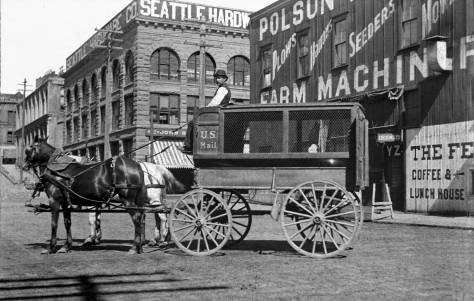 """THEN: Arthur Denny named both Marion and James Streets for his invalid brother, James Marion Denny, who was too ill to accompany the """"Denny Party"""" from Oregon to Puget Sound in 1851.  (Courtesy, Gary Gaffner)"""