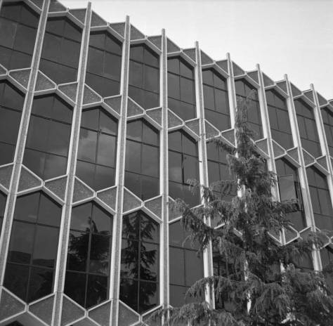 Sieg Hall photographed by Victor Lygdman in the early 1960s, when it was new.