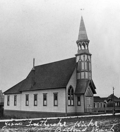 For instance: one of the many Lutheran churches in Ballard early in the 20th Century, but one which block, we have not as yet determined.  Perhaps a reader will peg it.