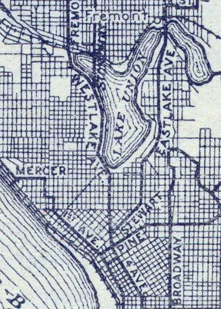 Detail from a 1916 Seattle map.