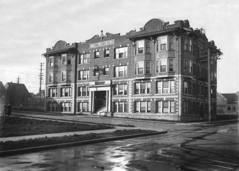 THEN: An early portrait, circa 1911, of The Silvian Apartments, one of Capitol Hill's abiding architectural jewels. (Courtesy, Bill Burden)