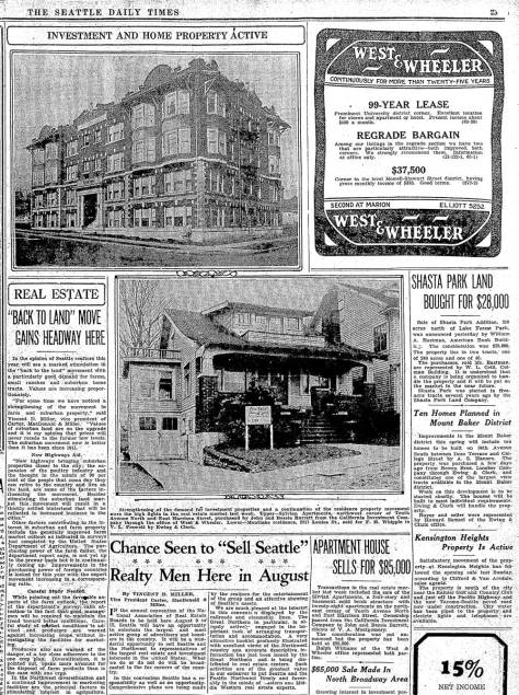 A Seattle Times clipping from February 13, 1927, CLICK to ENLARGE for the text on the Silvian's sale for $85,000.