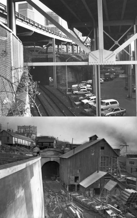 The tunnel's north portal ca. 1904, when still a work-in-progress.