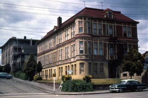 4. Wayside Clarior color Yesler-Home-aka-Wayside-Hospital-at-Republican-&-2nd-ave-n.-corner-of-Repertoire-Theatre-now.by-Les-HamiltonWEB-