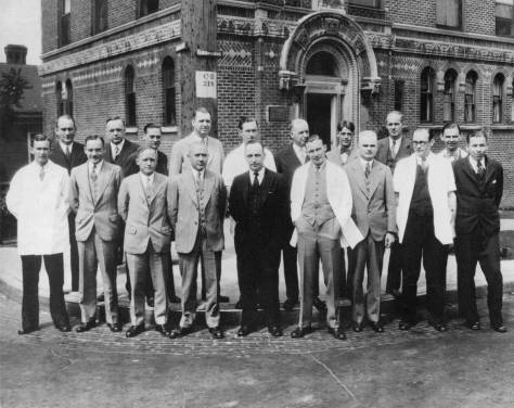 A intersection portrait of the founders in 1929.