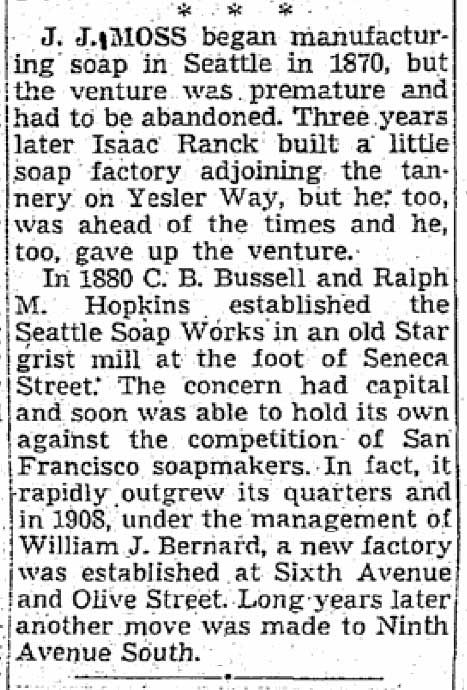 Clip from The Times for Sept. 21, 1950.