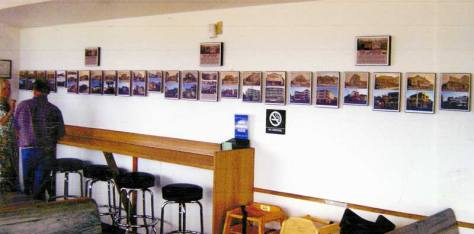 SPUD'S upstairs exhibit, 2003. All those repeats are on Alki Beach Ave. and in order too.