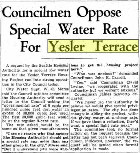 As public housing the building of Yesler Terrace was controversial as was its management. The fact that it was also not segregated was both daring and progressive.