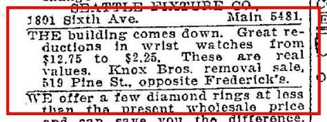 A revealing classified in the Seattle Times for March 13, 1923. Thanks to Rob and Ron for sharing it. (Their full names are in the body of the text, a formality that takes more space here than there.)