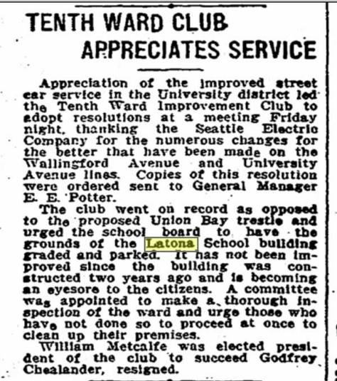 A good sign that transportation from the Latona Bridge to the Expo is shaping up well is expressed in these congratulations from the Tenth Ward Club published in The Times for May 21, 1909, less than a week before the fair opened.