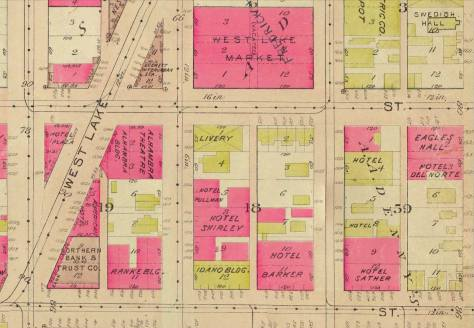 The 1912 Baist shows our Row, the six year old Westlake Ave. cut, and the trolley yard and barns converted into the Westlake Market.