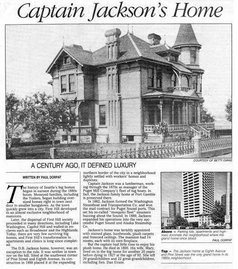 Capt. Jackson's home first appeared in Pacific on July 17, 1988.