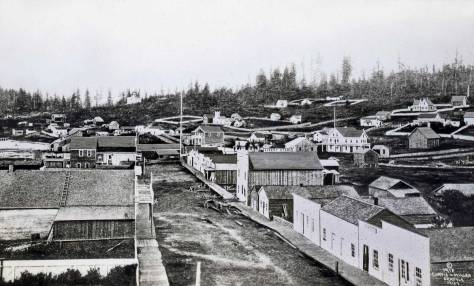 The credit at the lower right corner confesses that this is not an original print, but one copied by the photographer-partners Curtis-Mill much later than 1865. I held what is surely one of the few originals surviving, at home in the U.W. Libraries Northwest Collection. As I remember it, this first panorama of Seattle was about four inches wide - or perhaps five.