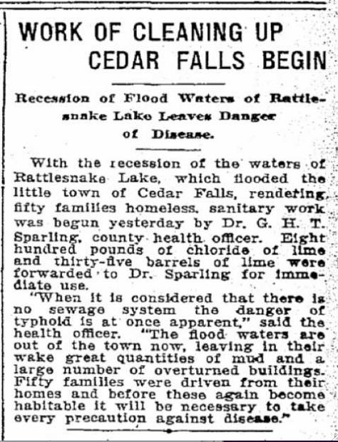 A Seattle Times clip from August 26, 1915.