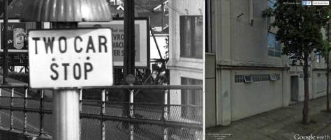 This dyptic shows on the left a detail from the feature photo on top, and on the left a detail from the same portion (with some changes - especially in the windows) of the Applied Physics Laboratory that appears on the far right of the 1940 photo.