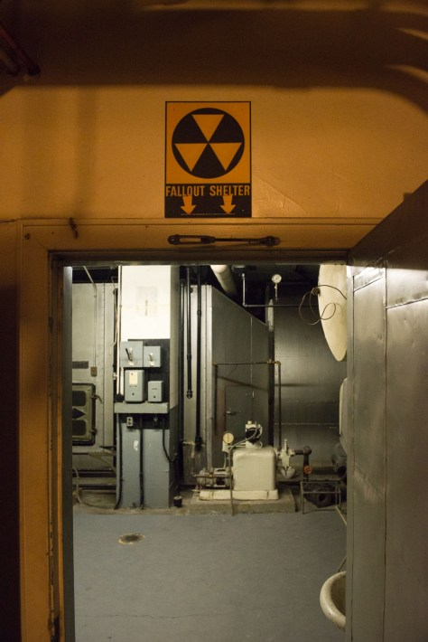 Downstairs, the remnants of a fallout shelter