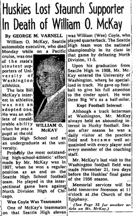 Clip from The Seattle Times for Dec. 21, 1956.