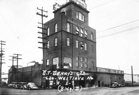 The Horluck Brewery at the northeast corner of Mercer Street and Terry Avenue.
