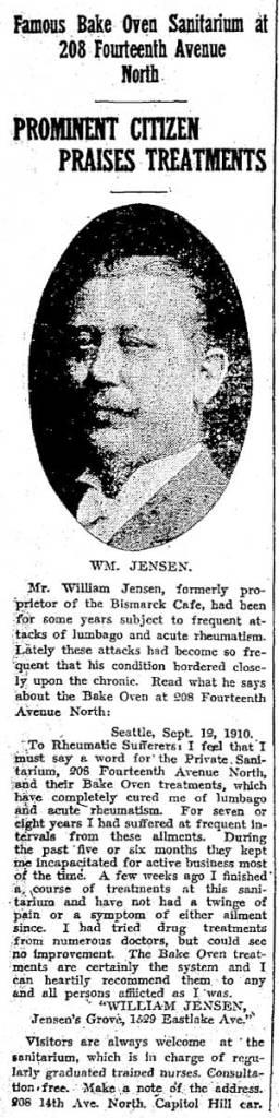 A Jensen testimony from Sept. 15, 1910.