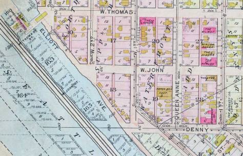Detail of the same site from the 1912 Baist Real Estate Map.