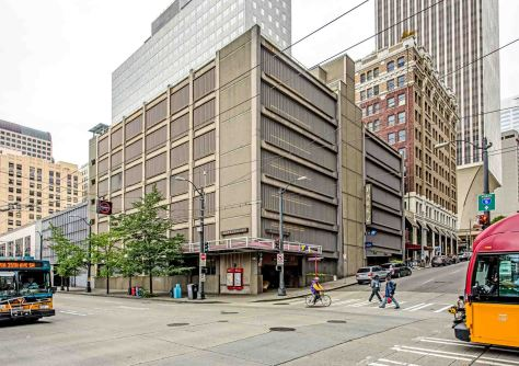 "NOW: The locally popular Jackie Sounders band played for the Pantages Theatre's ""Last Curtain Party"" in 1965. It then took a year to replace the imposing terra cotta tile clad theatre with the seven-story car cache that survives at the corner."