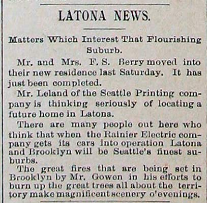 A Post-Intelligencer clipping from December 1, 1890
