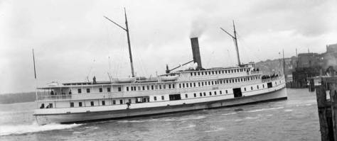 The steamer City of Kingston on the Seattle waterfront.