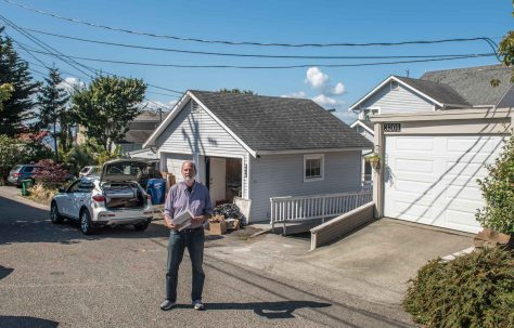NOW: The well-packed neighborhood of year-round beach homes has long since covered the large footprint of the Alki Natatorium.