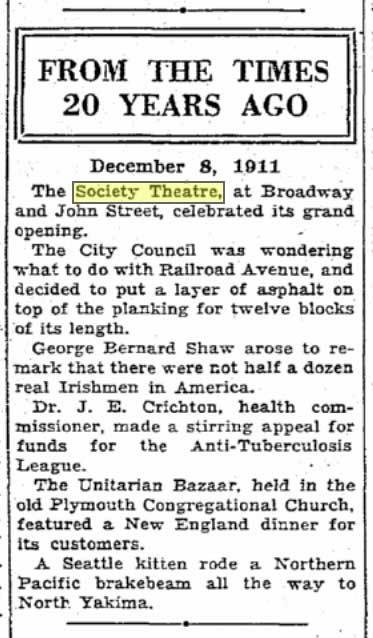 S.Times clip from Dec. 8, 1911