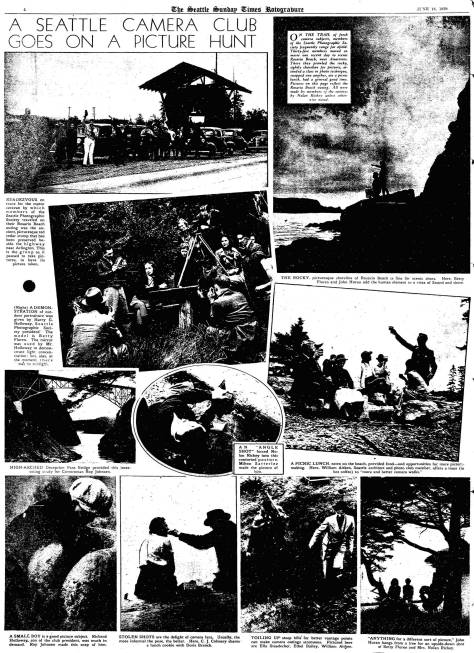 A page from The Seattle Times Rotogravure Magazine for June 16, 1939