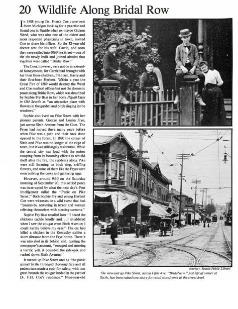 """The featured photo used in a """"now-then"""" feature about the """"Bridal Row"""" built one block east on Sixth Avenue."""